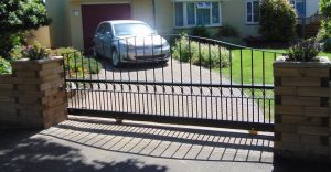 Metal electric sliding gate