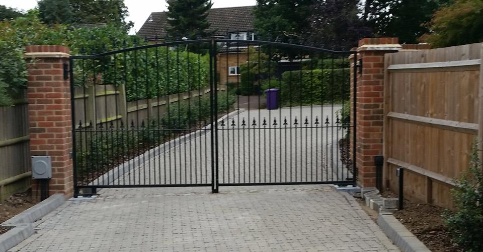 Metal residential gate